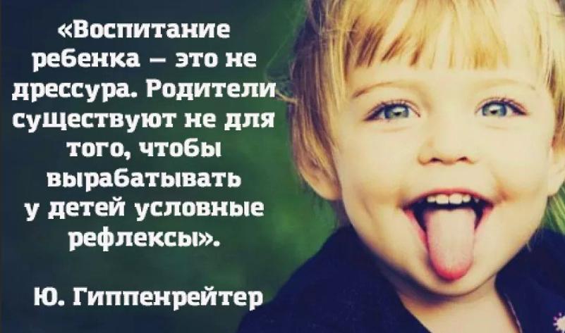 Ю. Гиппенрейтер о воспитании детей
