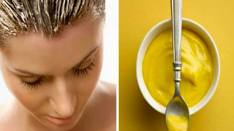 Маска для волос с горчичным порошком и репейным маслом