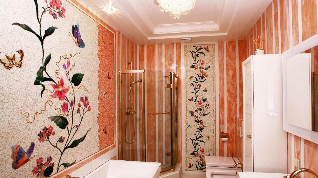 Для ванной мозаичное панно