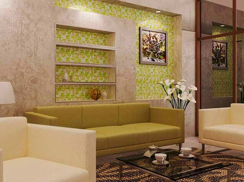 Использование мозаики в интерьере гостиной фото