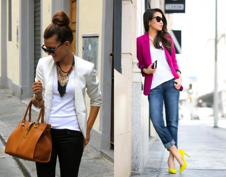 Сочетание - пиджаки женщины