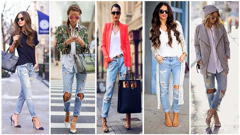 С чем можно носить джинсы девушкам, фото