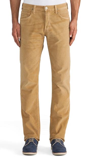 Вельветовые джинсы модные бежевые