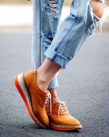 Обувь и джинсы