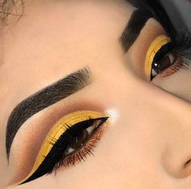 Картинка макияж для карих глаз