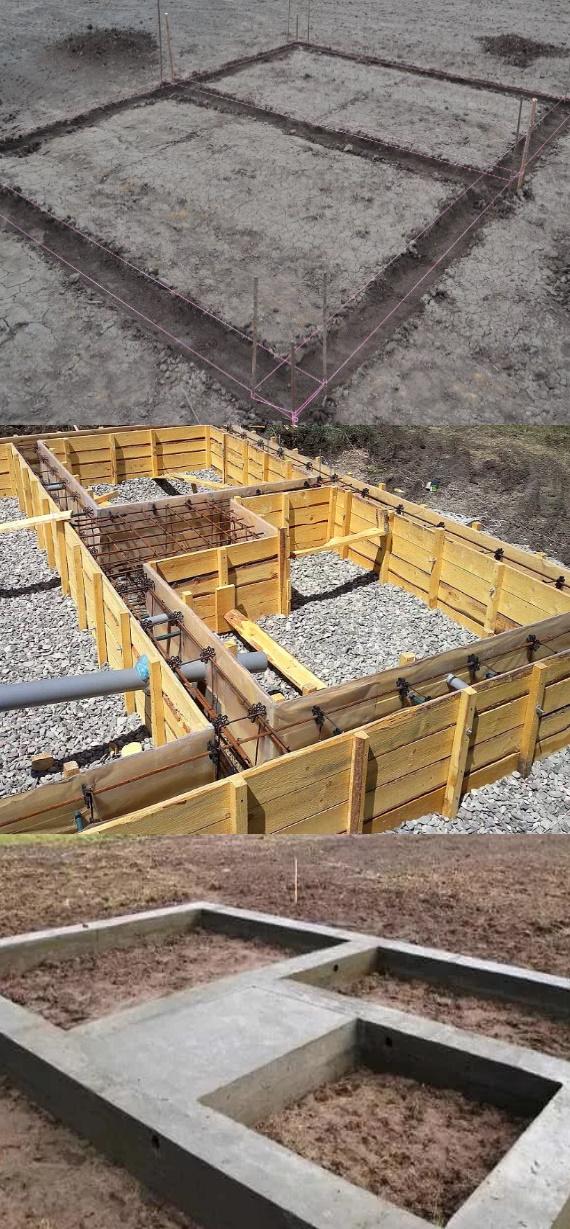 Фото подготовка площади для закладки фундамента бани