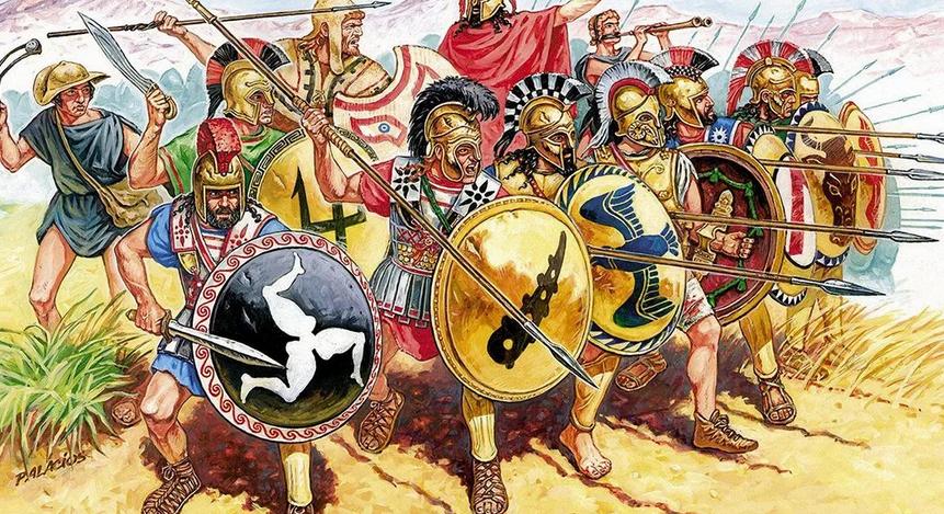 Картинка про древнюю войну №2